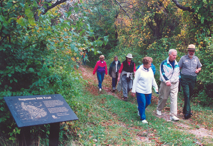 Interpretive hiking trails offer a wonderful blend of natural and cultural history.