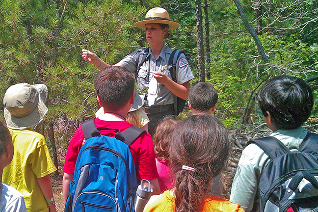 The US Army Corps of Engineers Parks Rangers offer interpretive programs for all ages.