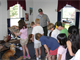 Ranger Victor Ranfos assists with a school outreach program. Common topics rangers present are flood control, water cycle, water safety, and the history of the Corps of Engineers. Programs can be done at the dam and recreation area.