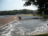 Turner Reservoir Dam is the third of three dams and is part of the Ten Mile River Aquatic Ecosystem Restoration Project, which will restore anadromous fish migration to the lower Ten Mile River. (Photo courtesy Keith Gonsalves, Ten Mile River Watershed Group)