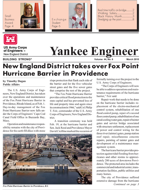 March 2010 edition of the Yankee Engineer